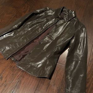 Copper Key dark chocolate brown leather jacket
